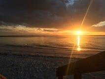 Nowy Smyrna plaży wpust obraz royalty free