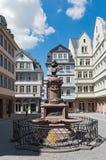 Nowy Stary Grodzki Stoltze pomnik na Huehnermarkt, Frankfurt, Ge Zdjęcie Royalty Free