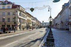 Nowy Swiat street in Warsaw City center Stock Photo