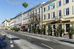 Nowy Swiat street in Warsaw in downtown Stock Image