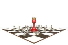 Nowy szef (szachowa metafora) Obrazy Stock