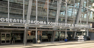 Nowy Tacoma convention center obrazy stock