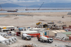 Nowy terminalu teren w budowie Zdjęcia Royalty Free