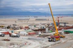Nowy terminalu teren w budowie Fotografia Royalty Free