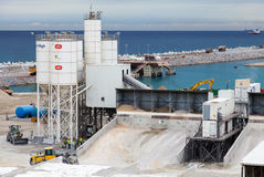 Nowy terminalu teren w budowie w Portowym Tanger Med 2 Obrazy Stock