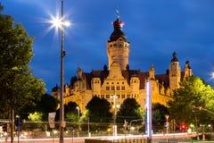 Nowy Townhall Leipzig fotografia stock