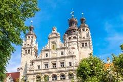 Nowy Townhall, miasto Leipzig zdjęcie stock