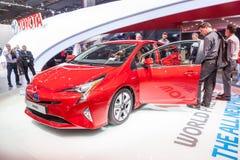 Nowy Toyota Prius hybryd przy IAA 2015 Obraz Stock