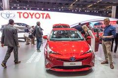 Nowy Toyota Prius hybryd przy IAA 2015 Fotografia Stock