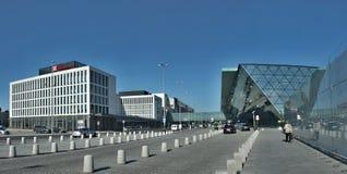 Nowy tramwaj od Krakow Krakow lotnisko Polska, Balice - zdjęcia stock