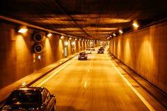 Nowy tunel na autobahn drogach Niemcy Obraz Royalty Free