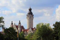 Nowy urząd miasta Leipzig, Germany obrazy stock