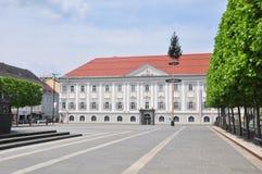 Nowy urząd miasta w Klagenfurt, Austria fotografia royalty free