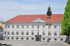 Nowy urząd miasta w Klagenfurt, Austria obraz royalty free