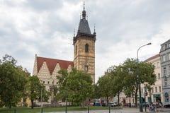 Nowy urząd miasta w Praga obraz stock