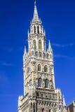 Nowy urząd miasta, Monachium, Bavaria, Niemcy Zdjęcia Royalty Free