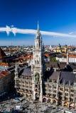 Nowy urząd miasta, Monachium, Bavaria, Niemcy Zdjęcie Royalty Free