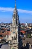 Nowy urząd miasta, Monachium, Bavaria, Niemcy Zdjęcia Stock