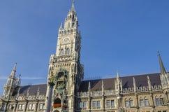 Nowy urząd miasta - Neues Rathaus, Monachium Zdjęcia Royalty Free