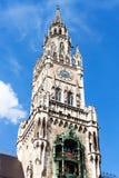 Nowy urząd miasta Neues Rathaus na Marienplatz Zdjęcia Royalty Free