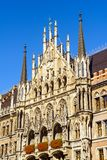 Nowy urząd miasta Neues Rathaus na Marienplatz w Monachium Obrazy Royalty Free