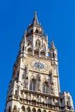Nowy urząd miasta Neues Rathaus na Marienplatz w Monachium Zdjęcie Royalty Free