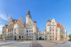 Nowy urząd miasta Neues Rathaus w Leipzig Zdjęcie Royalty Free