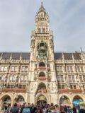 Nowy urząd miasta, Neues Rathaus w Monachium, Niemcy Fotografia Stock