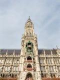 Nowy urząd miasta, Neues Rathaus w Monachium, Niemcy Obrazy Stock