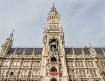 Nowy urząd miasta, Neues Rathaus w Monachium, Niemcy Zdjęcia Stock