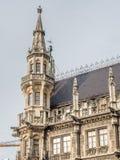Nowy urząd miasta, Neues Rathaus w Monachium, Niemcy Zdjęcia Royalty Free