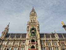 Nowy urząd miasta, Neues Rathaus w Monachium, Niemcy Zdjęcie Royalty Free