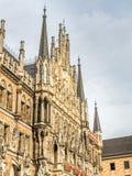 Nowy urząd miasta, Neues Rathaus w Monachium, Niemcy Obraz Royalty Free