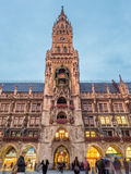 Nowy urząd miasta, Neues Rathaus w Monachium, Niemcy Obraz Stock