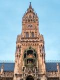 Nowy urząd miasta, Neues Rathaus w Monachium, Niemcy Zdjęcie Stock