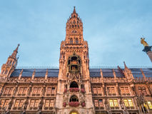 Nowy urząd miasta, Neues Rathaus w Monachium, Niemcy Obrazy Royalty Free
