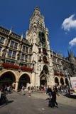Nowy urząd miasta w Monachium, Niemcy (Neues Rathaus) Fotografia Stock