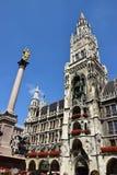 Nowy urząd miasta w Monachium, Niemcy (Neues Rathaus) Obraz Stock