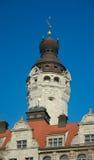 Nowy urzędu miasta wierza, Leipzig Zdjęcia Stock