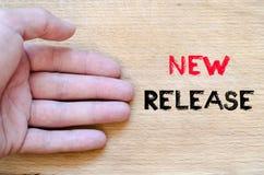 Nowy uwolnienie teksta pojęcie Zdjęcie Stock