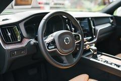Nowy 2018 Volvo XC60 samochodu wnętrze Obrazy Stock