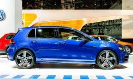 Nowy VW, Volkswagen Golf strony strzał/ Zdjęcia Stock
