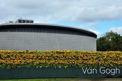 Nowy wejście Van Gogh muzeum z słonecznikowym labyr obraz royalty free