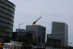Nowy wieżowiec zdjęcia royalty free
