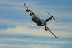 NOWY WINDSOR, NY - WRZESIEŃ 3, 2016: Giganta C-17 Globemaster III obraz stock