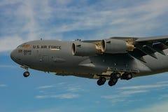 NOWY WINDSOR, NY - WRZESIEŃ 3, 2016: Giganta C-17 Globemaster III zdjęcie stock