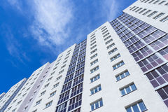 Nowy wysoki budynek mieszkaniowy Fotografia Stock