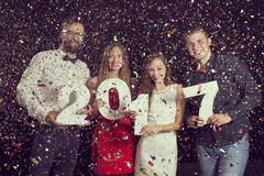 Nowy Year& x27; s wigilii przyjęcie Obraz Royalty Free