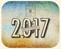 Nowy Year& x27; s wigilii karta Obraz Stock
