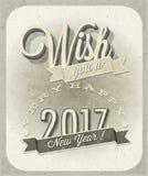 Nowy Year& x27; s wigilii karta Obraz Royalty Free